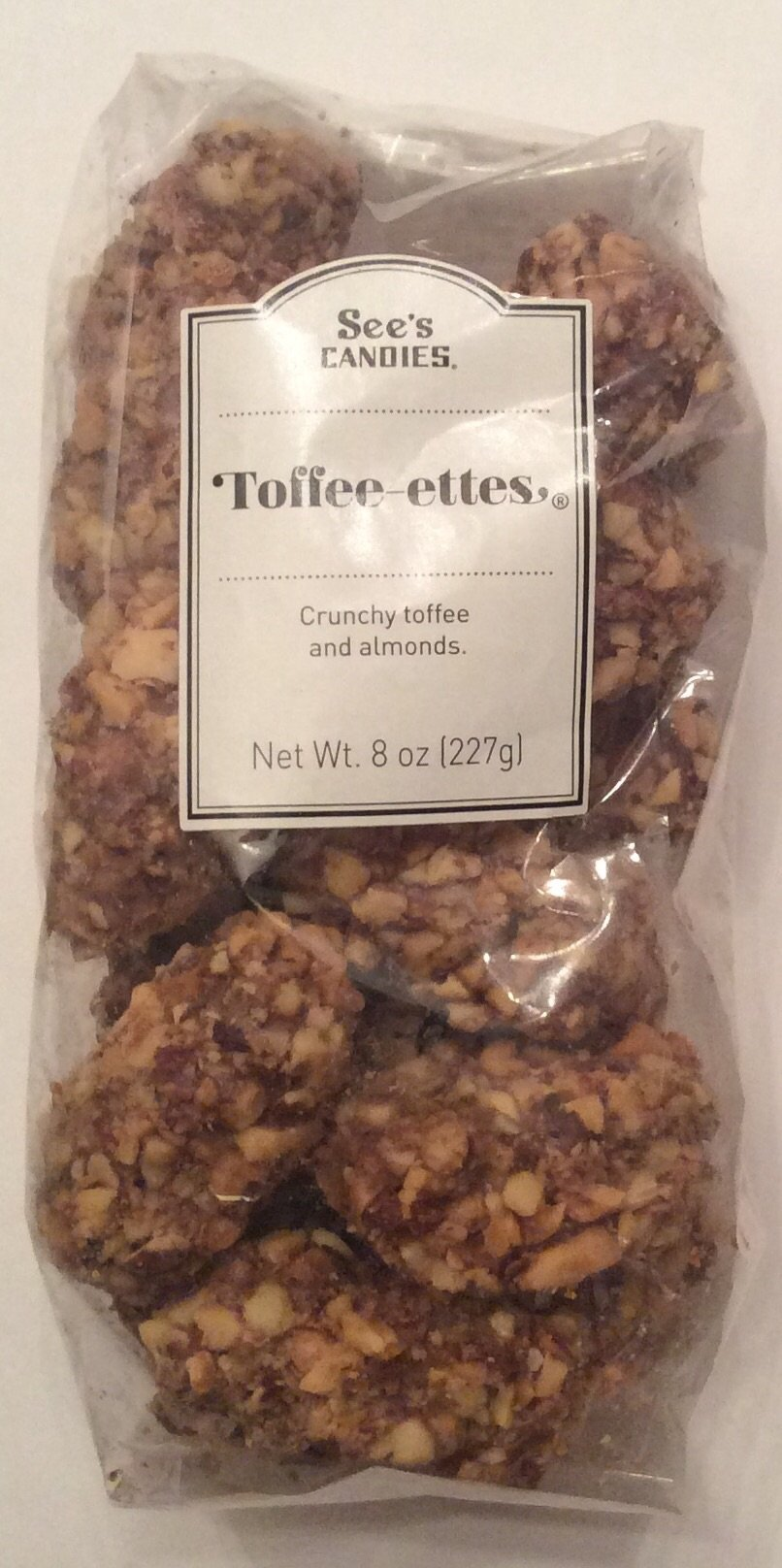 See's Candies Toffee-ettes 8 Oz (one bag) by See's Candies
