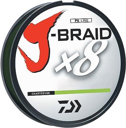 Daiwa J-Braid X8 300m PE braided line Chartreuse