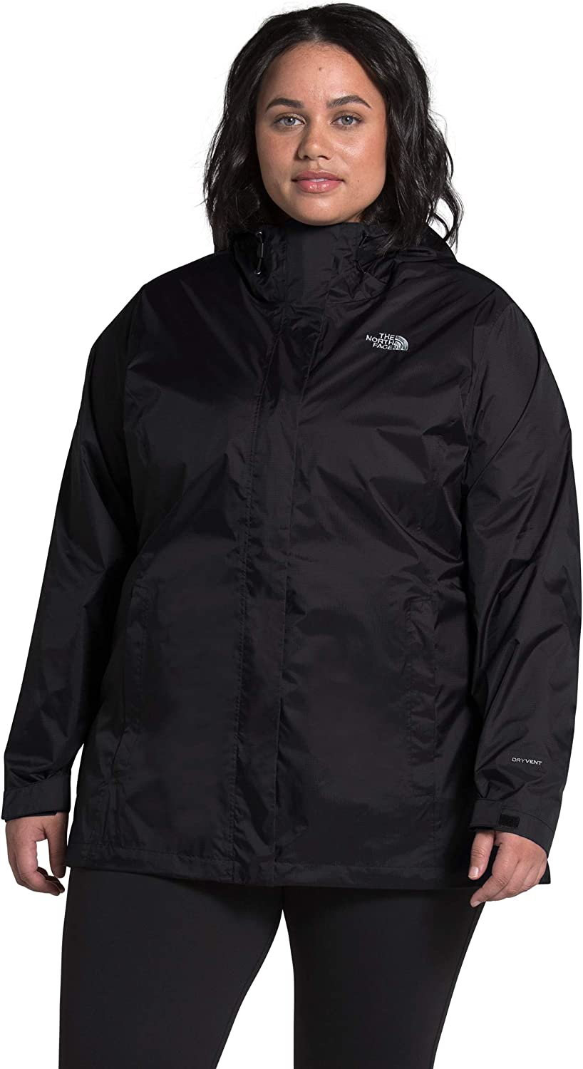 The North Face Women's Plus Size Venture 2 Waterproof Hooded Rain Jacket: Clothing