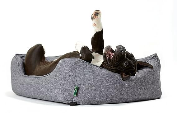 HUNTER Cama sofá para perro, tamaño M, dimensiones exteriores 85 x 65 x 24 cm/cojín interior 67 x 47 cm, color gris, referencia 61430: Amazon.es: Productos ...