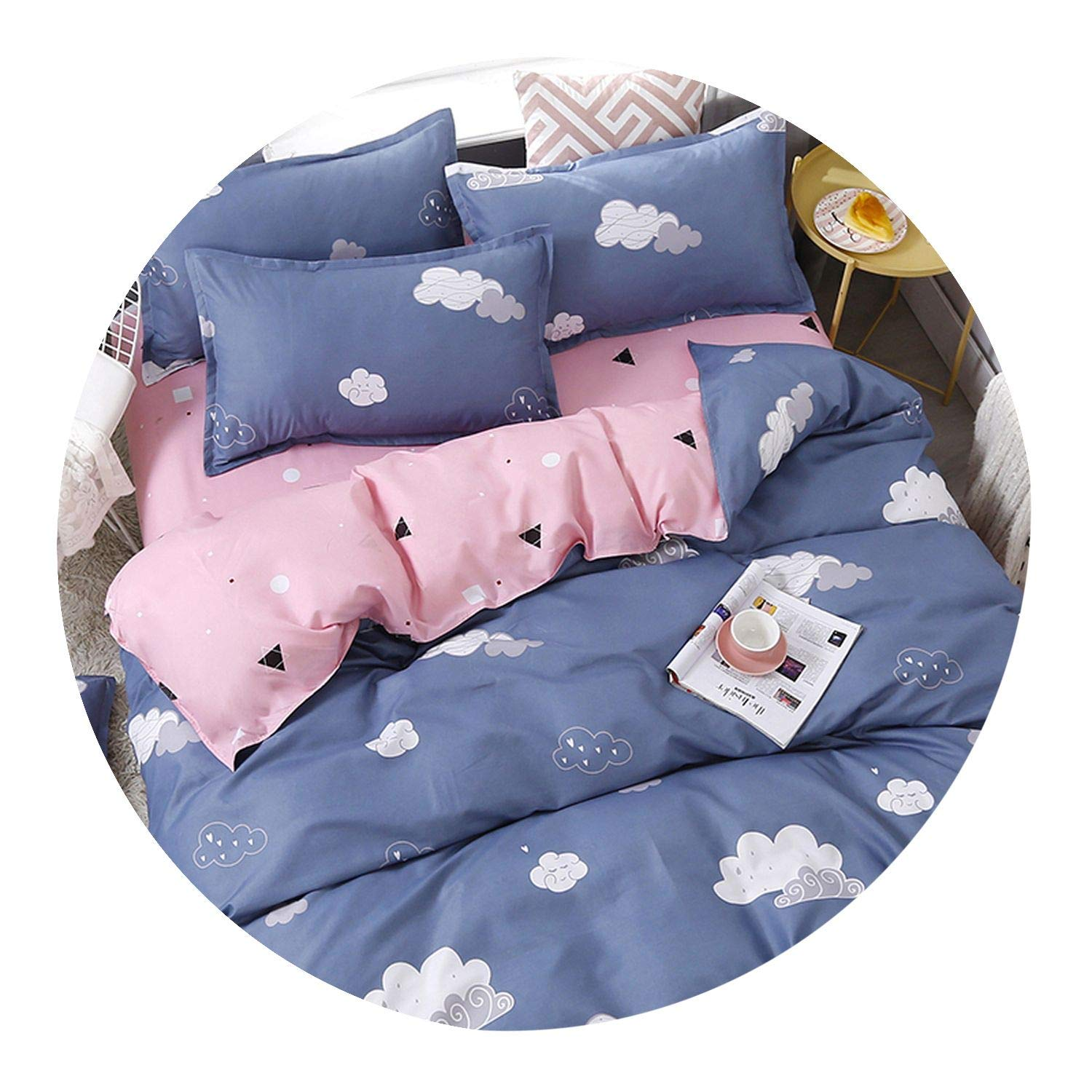 3/4pcs/set Brief Cloud Printing Textile Bedding Set Include Duvet Cover &Sheets&Pillowcases Cover Comfortable Home Bed Set,for 2.2m Width Bed