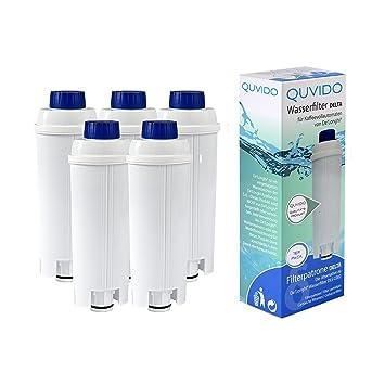 QUVIDO - 5 x filtro de agua Delta para DeLonghi cafeteras: Amazon.es: Hogar