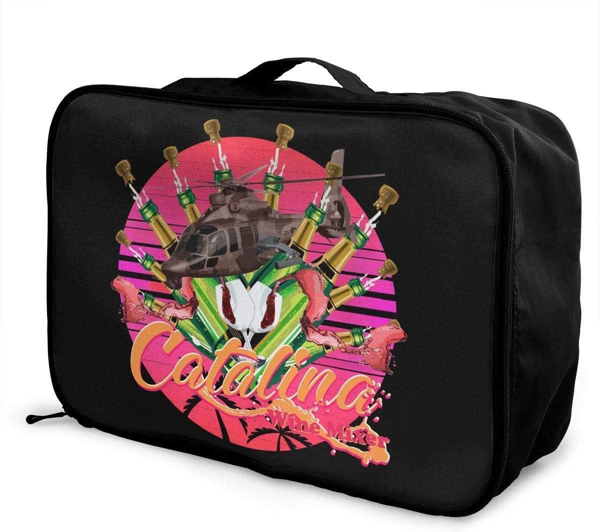 Bolsa de Viaje,Plegable Ligero Bolso Equipaje, Catalina Wine Mixer Travel Lightweight Waterproof Foldable Storage Carry Luggage Duffle Tote Bag