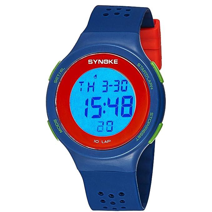 Shiduoli LED Ultrafino natación a Prueba de Agua Reloj Digital poroso Transpirable Moda (Color : Green): Amazon.es: Hogar