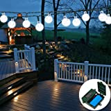 APEXPOWER [Rechargeable Battery Included] Battery Operated String Lights 30LED 21ft with Automatic Timer 8 Mode Waterproof Lights for Outdoor Indoor Garden Home Party Tree (Clearance White)