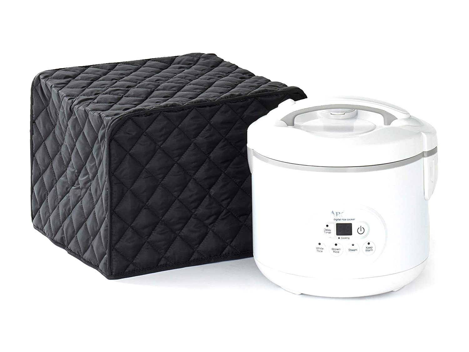 Covermates – Rice Cooker Cover – 16W x 10D x 9H – Diamond Collection – 2 YR Warranty – Year Around Protection - Black