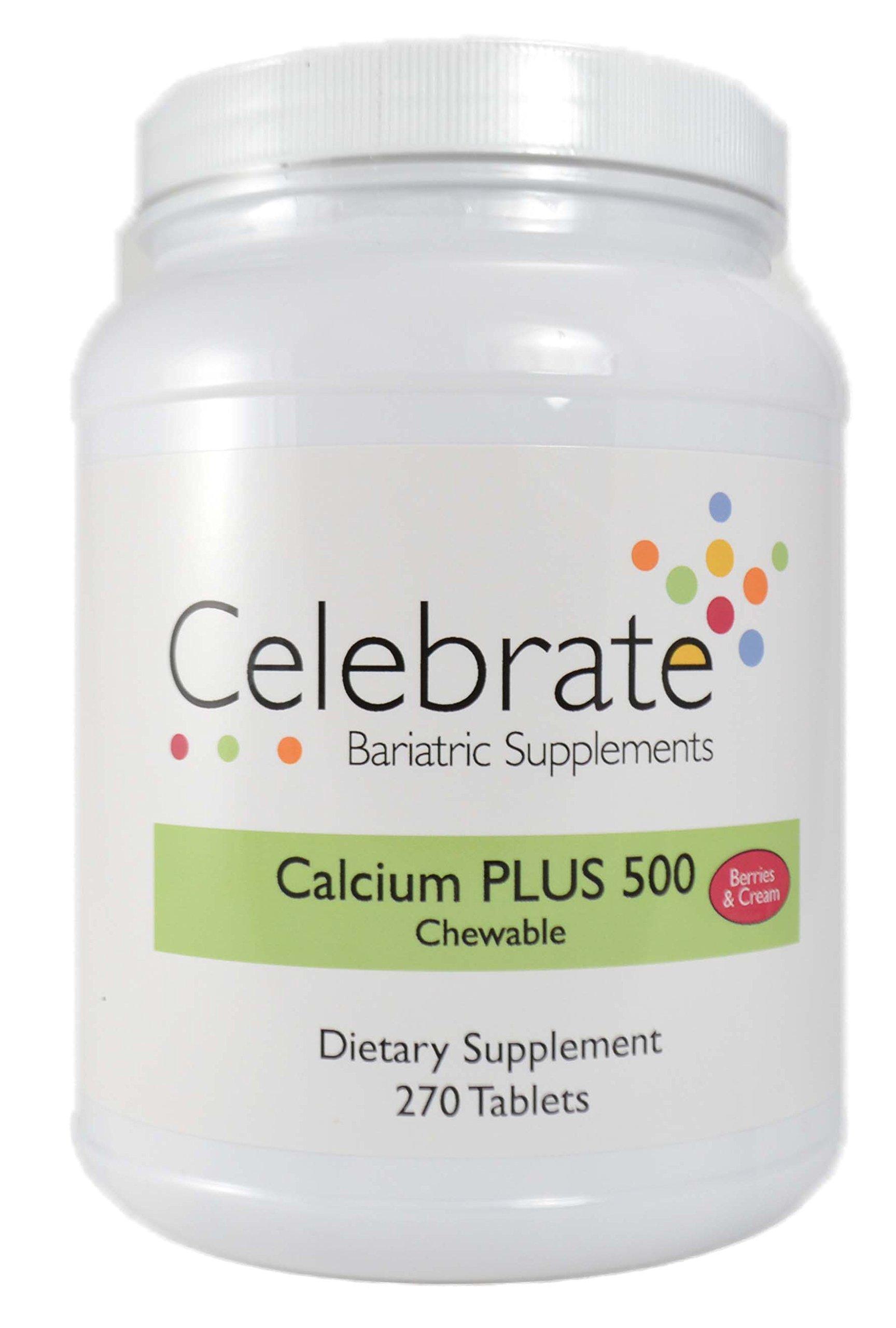 Celebrate Calcium Citrate Plus 500mg Chewable Berries & Cream 270 Count by Celebrate Vitamins