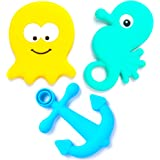 BEBE Advanced 'Under the Sea' Teething Toys & Gift Bag - Gum Massagers, Studded & Large (Set of 3)