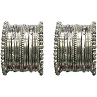 MUCH MORE Golden & Silver Plated Beautiful 32 Bangle with Kada Set of Indian Women