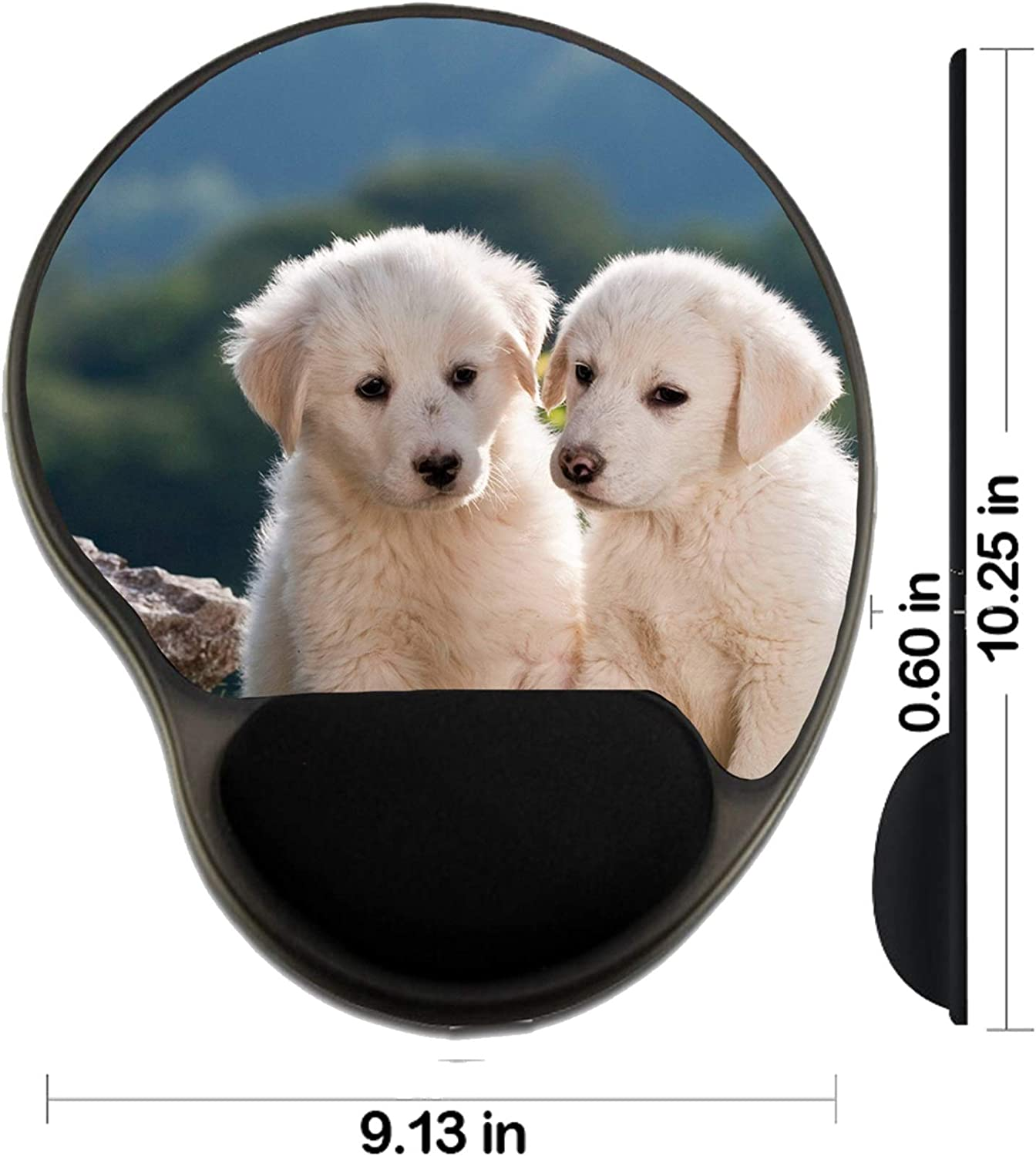 MSD Mousepad Wrist Rest Protected Mouse Pads 23046733 Puppy Shepherd Dog on The Background Image ID Mat with Wrist Support