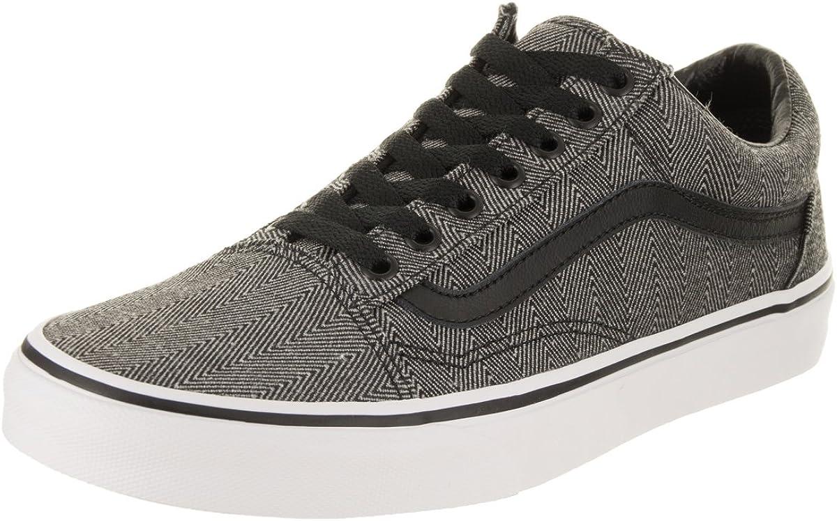 Black Herringbone Skate Shoe 7.5 Men US
