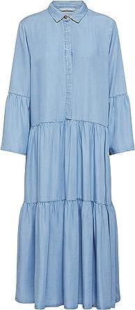 Numph 7220802 Nuanna Dress - Vestido largo con cuello de ...