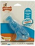 Nylabone (ナイラボーン)パピー デンタル ダイナソー 子犬用 恐竜型 噛むおもちゃ チキン味 [並行輸入品]