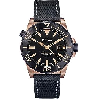 Davosa Automatic Swiss Made Men Watch - Professional Argonautic BG Analog Mechanical Movement Menswatch with Leather