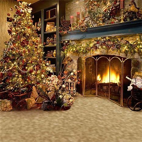 Sfondi Natalizi Eleganti.3 X 3 M Indoor Camino Fondali Fotografia Dell Albero Di Natale