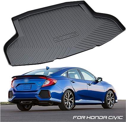Accesorios para autom/óviles para Honda Civic Sedan 2016-2019 10a generaci/ón del trazador de l/íneas Trasero del trazador de Carga del Estera de la Bota del Piso Bandeja de la Alfombra del Piso