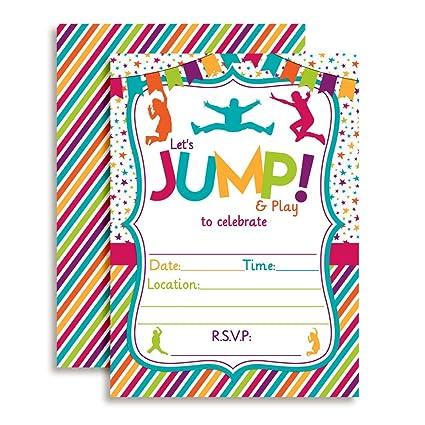 amazon com jump bounce and play jumping birthday party invitations