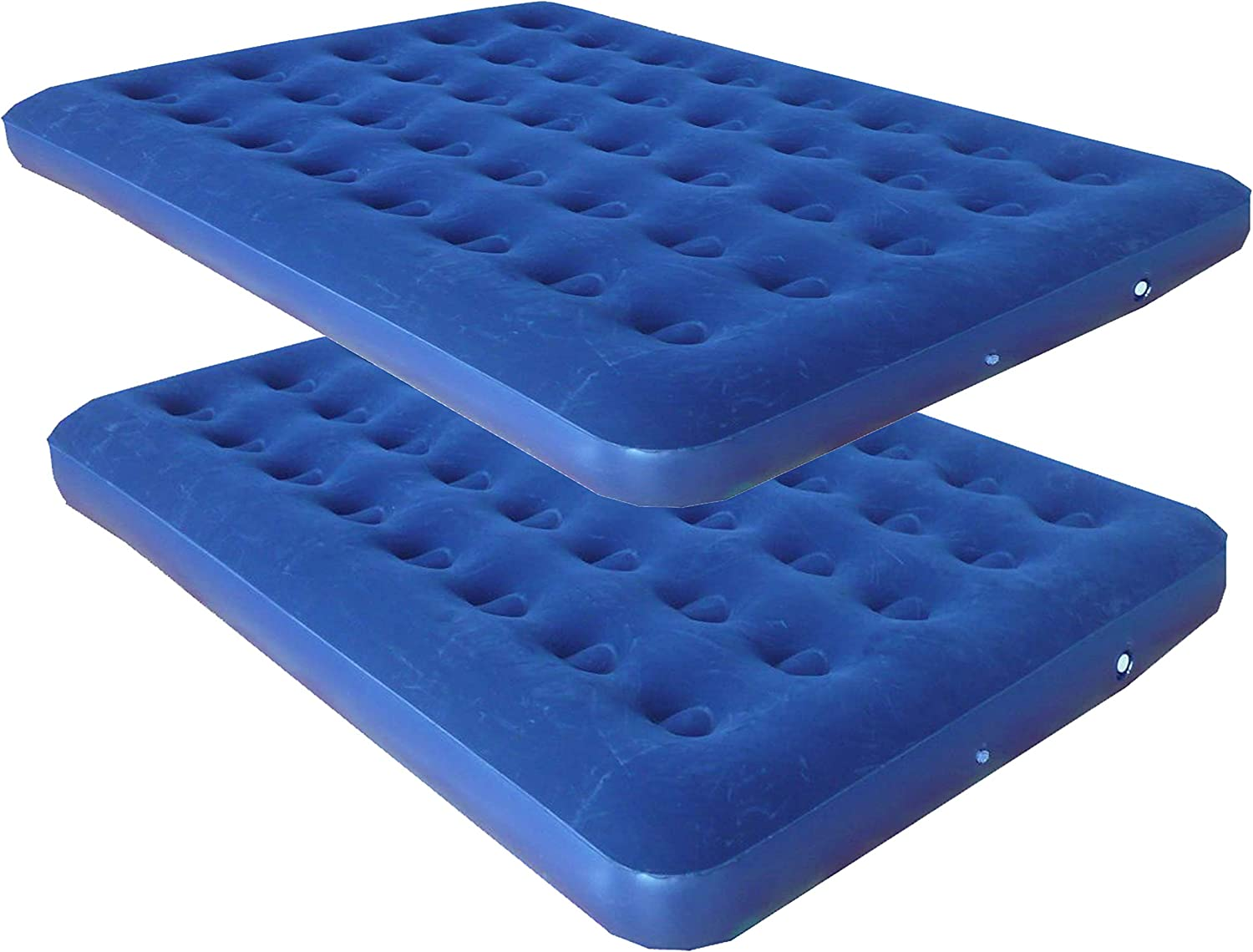 Zaltana Nylon Fabric Single Size AIR Mattress with Building in Pillow Size: 77 by 28 Red//Blue AMR