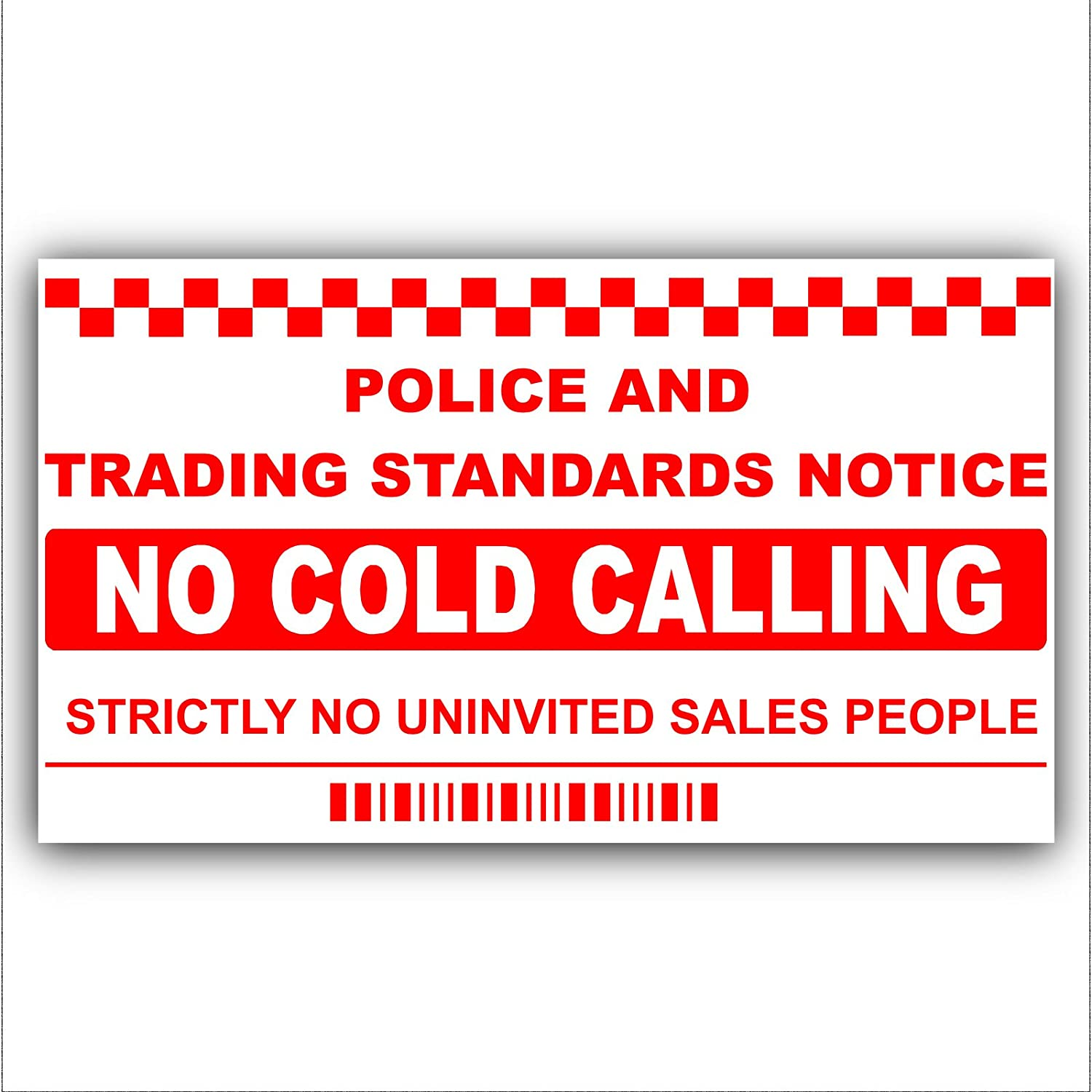 BUY ONE GET ONE FREE STOP COLD CALLERS DO NOT KNOCK COLOUR LAMINATED WINDOW SIGN