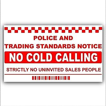 No cold callerssalesman calling warning house sticker self adhesive vinyl door or window