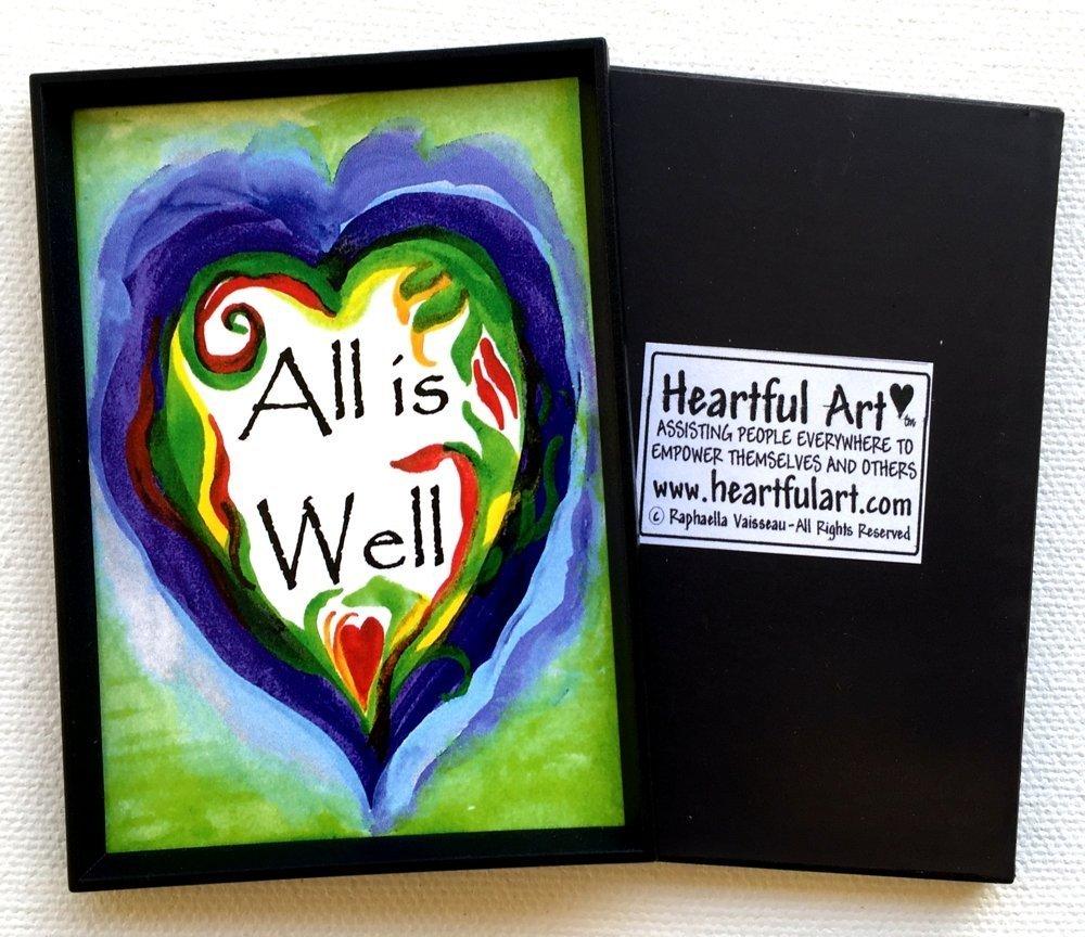 All is well 2x3 zen mindfulness magnet - Heartful Art by Raphaella Vaisseau