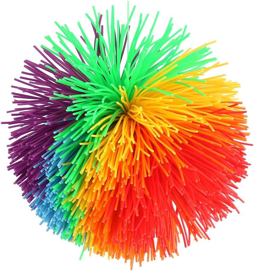 VGEBY1 Boules stringentes de Jouet de Construction de Silicone sensorielle color/ée de Forme de Boule de Jouet sensorielle color/ée darc-en-Ciel