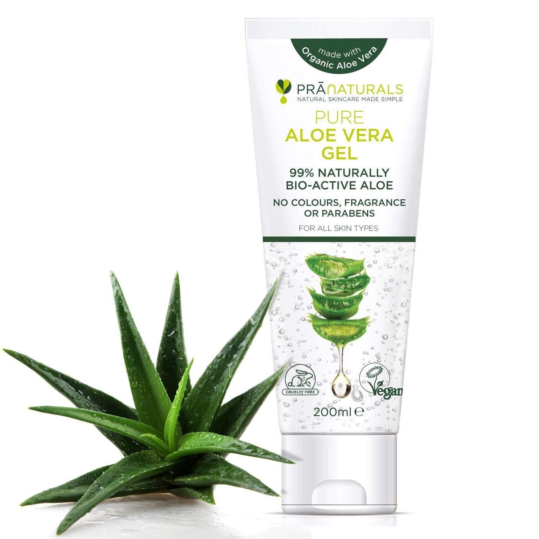 pranaturals Aloe Vera Gel 200 ml, crema hidratante de Natural Relajante & Nutritivo, hidrata