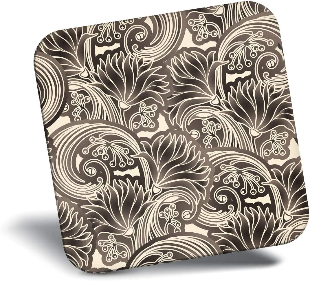 Destination Vinyl ltd Awesome Fridge Magnet - Chrysanthemums Art Deco Retro 21355