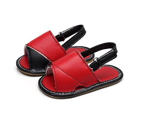 6f8b173ea715 HONGTEYA Summer PU Leather Baby Boys Sandals Rome Sandals Baby Girls Kids  Sandals Shoes (11cm