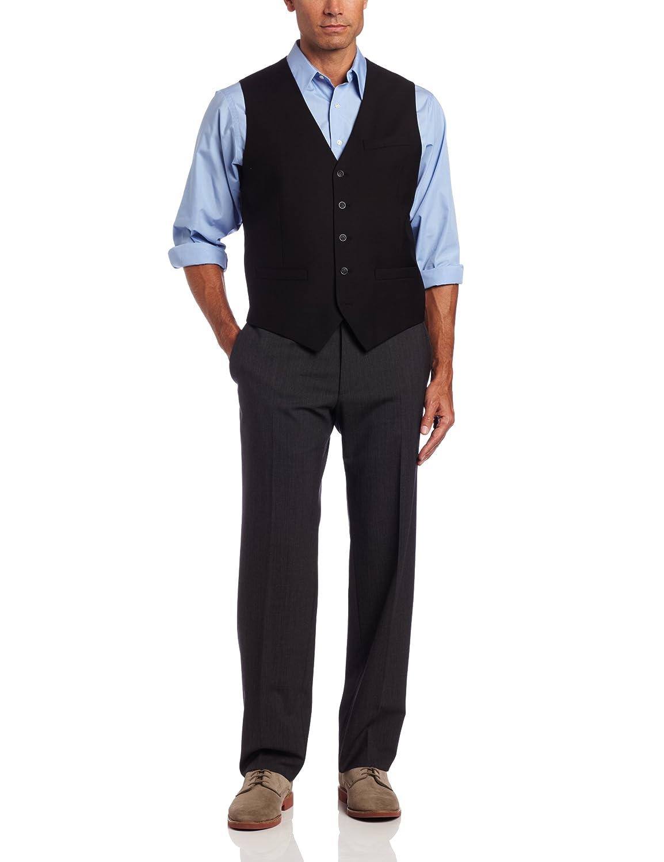Perry Ellis Men's Big-Tall Solid Suit Vest 42MV4604