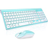 Wireless Keyboard Mouse Combo, Cimetech Compact Full Size Wireless Keyboard and Mouse Set 2.4G Ultra-Thin Sleek Design…