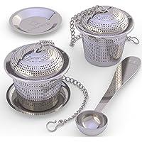Infusor GS11133ea,Jadpes Colador de t/éCreative Tea Fil filtro de la taza del metal del infusor del t/é de la malla del acero inoxidable 304 con la tapa Filtro de t/é creativo