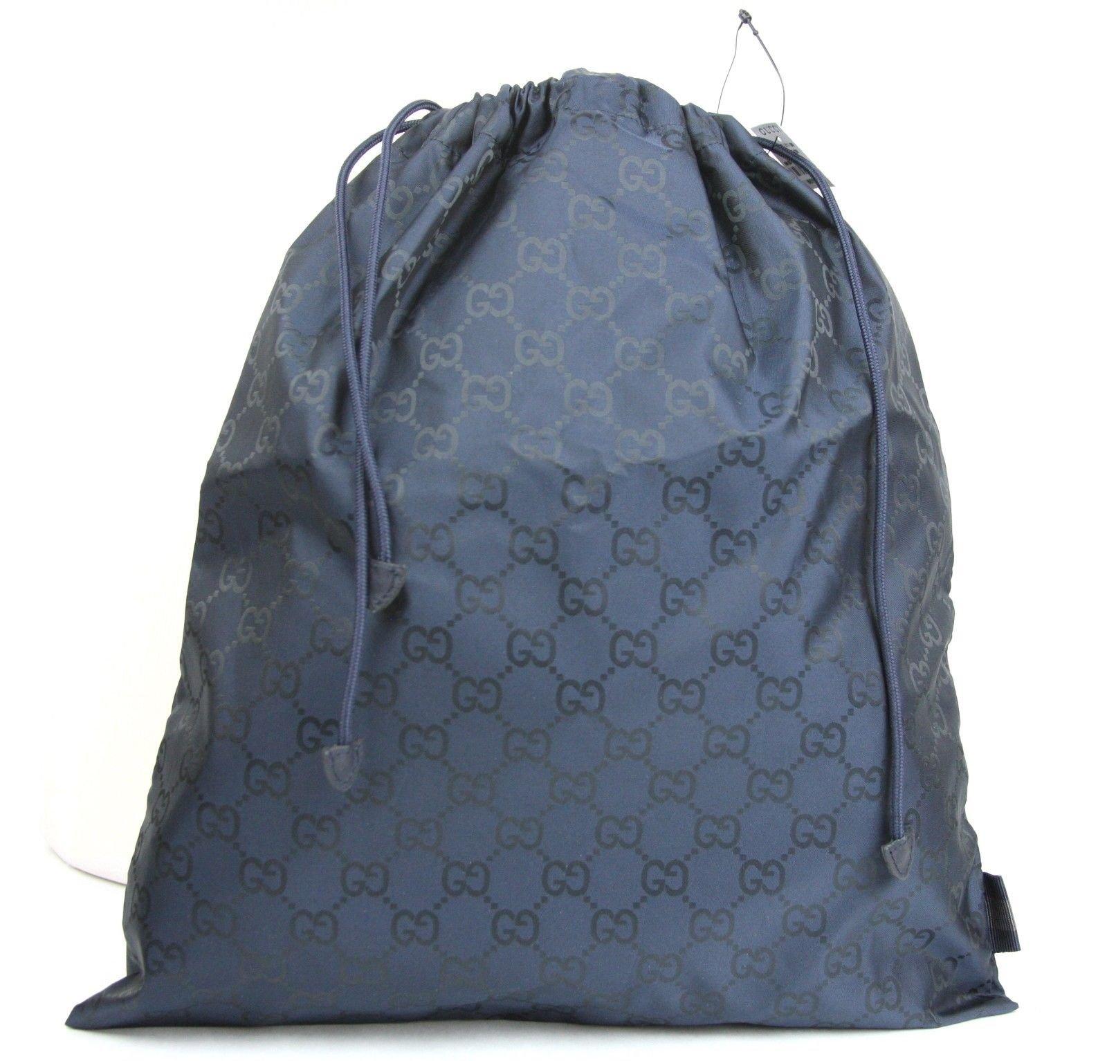 Gucci Blue Nylon Guccissima Viaggio Collection Drawstring Pouch 308941 8492