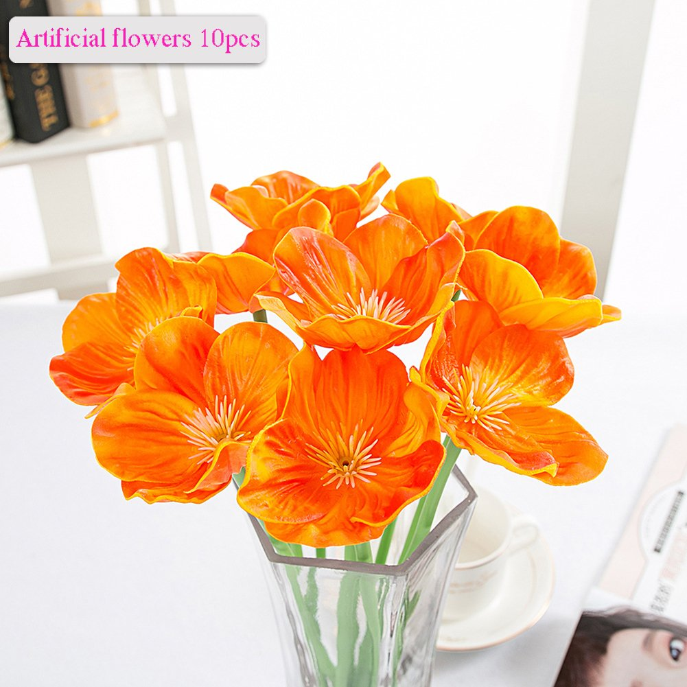 Best rated in artificial flowers helpful customer reviews amazon artificial flowers meiwo 10 pcs nearly natural artificial poppies flowers for wedding bouquets home mightylinksfo Image collections