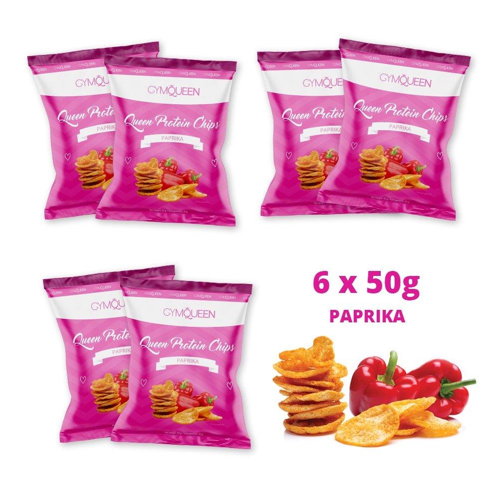 GymQueen Queen Protein Chips Paprika - 6 Barras: Amazon.es: Salud y cuidado personal