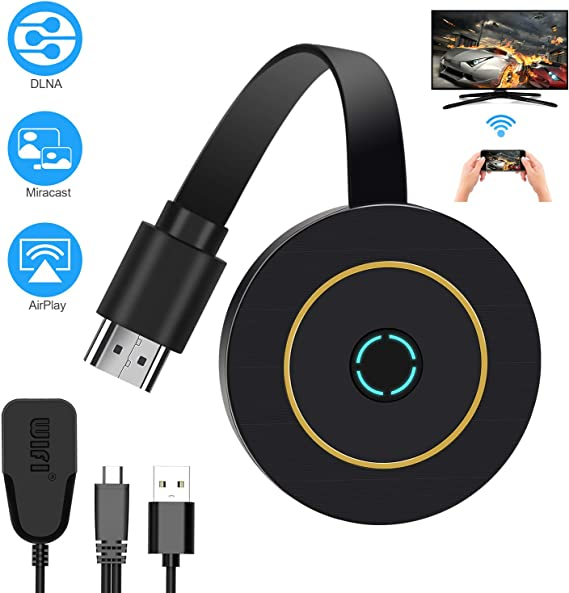 TedGem WiFi Display Dongle, 4K HDMI Adaptador Mini Aparato Receptor HDMI Inalámbrico WiFi Display TV Dongle 2.4G WiFi Dongle TV Miracast DLNA Airplay para iOS/Android/Mac (2.4G +4K): Amazon.es: Electrónica