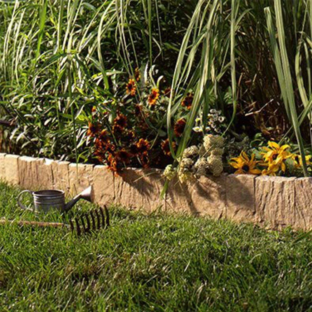 Suncast FSE10LT Landscape Design Border Decorative Natural Rock Stone Edging