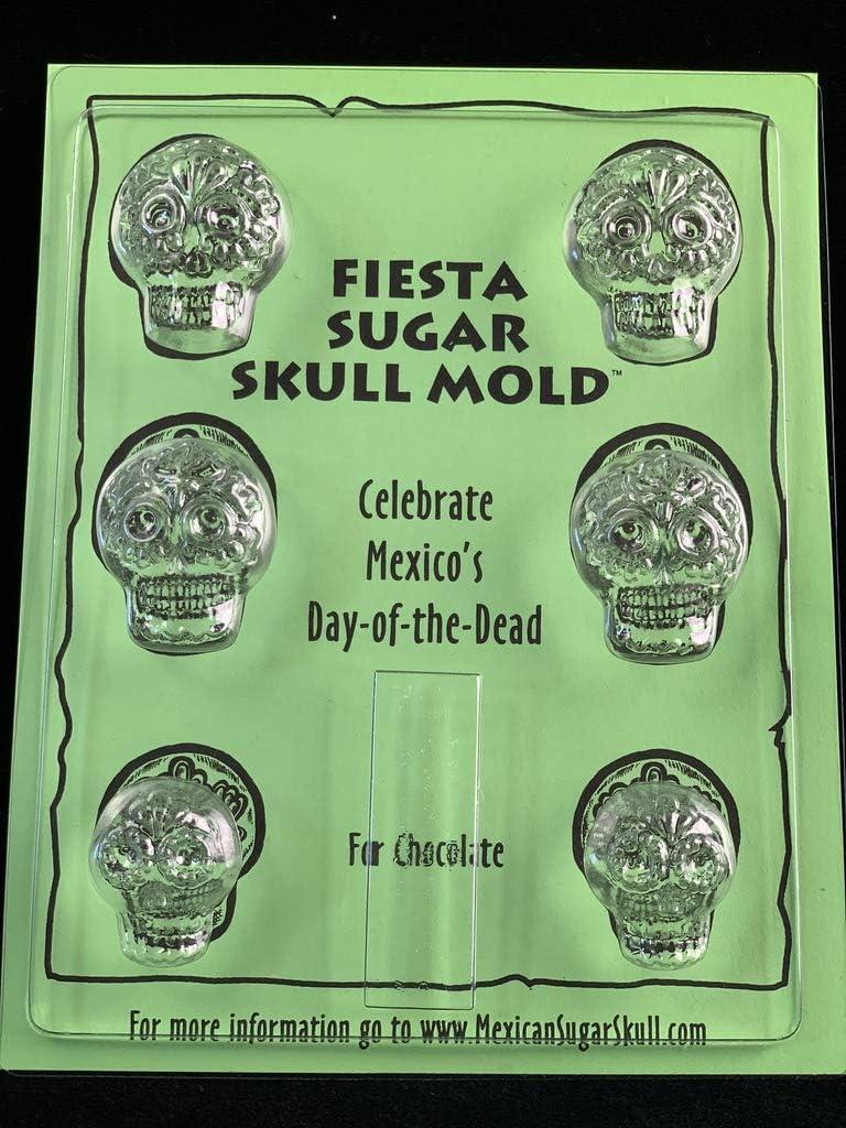 Sugar Skull Chocolate Mold - Fiesta - Candy Making Mold