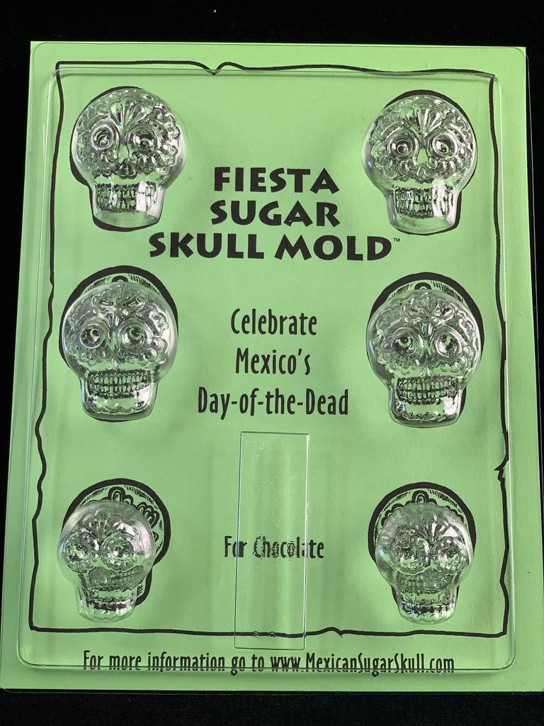 Sugar Skull Chocolate Mold - Fiesta - Candy Making Mold by Mexican Sugar Skulls