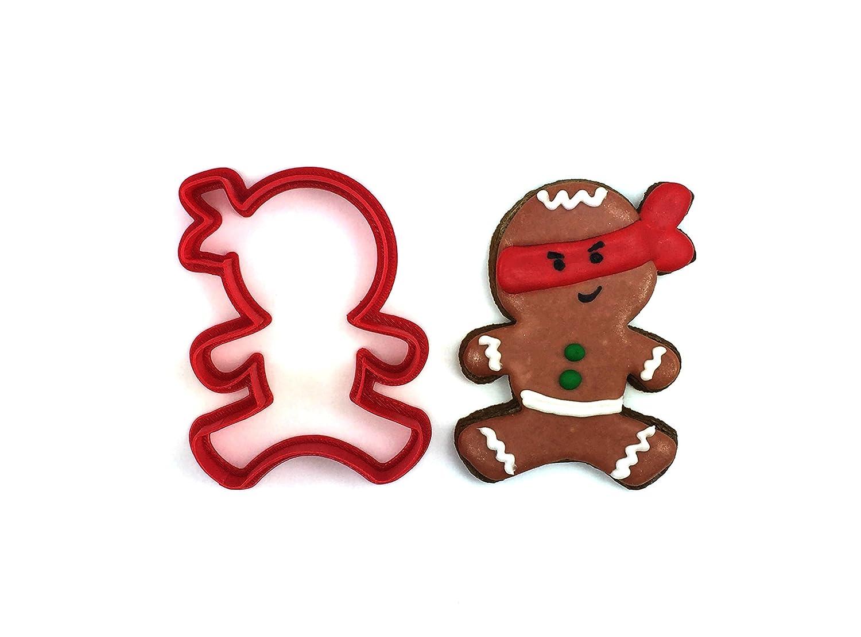 Amazon.com: Jumping Ninja Gingerbread Man Cookie Cutter ...