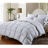 Egyptian Bedding HARD-TO-FIND Overfilled LUXURIOUS BAMBOO Down Alternative Comforter, 750 Fill Power, 86 Ounce Fill Weight, Silky BAMBOO, California King Size, White Color