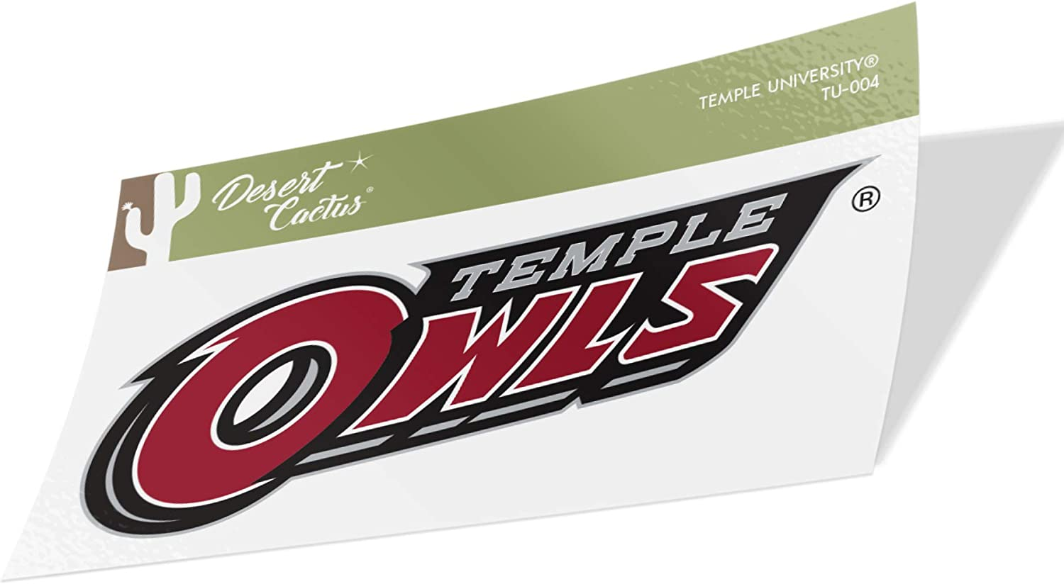 Temple University Owls NCAA Vinyl Decal Laptop Water Bottle Car Scrapbook (Sticker - 004)