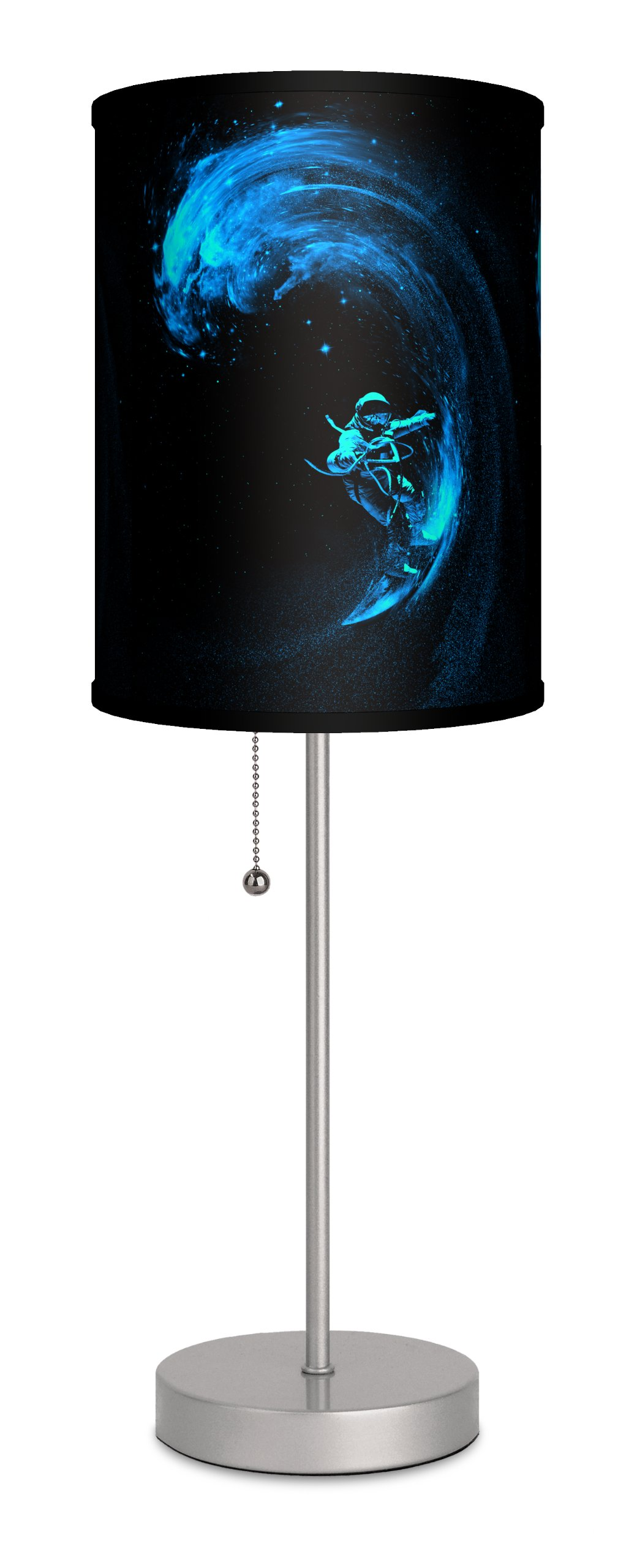 Lamp-In-A-Box SPS-FAR-NBSPA Featured Artists Nice Bleed Space Surfing Sport Lamp, Silver