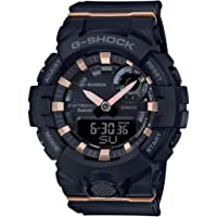 Ladies' Casio G-Shock S-Series G-Squad Connected Black Resin Watch GMAB800-1A