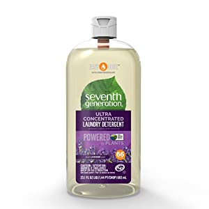 Seventh Generation Laundry Detergent, Ultra Concentrated EasyDose, Fresh Lavender, 23 oz (66 Loads)