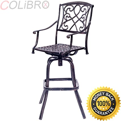 Astounding Amazon Com Colibrox 30 Cast Aluminum Swivel Bar Stool Patio Pabps2019 Chair Design Images Pabps2019Com