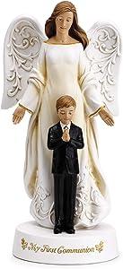 Joseph's Studio by Roman - Angel with Praying Boy My First Communion Figure, 7.75