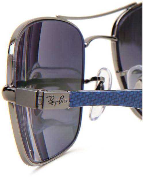 0da5abcae6 Amazon.com  Ray-Ban RB8309 - GUNMETAL Frame POLAR GRAY MIRROR SILVER GRAD.  Lenses 59mm Polarized  Clothing