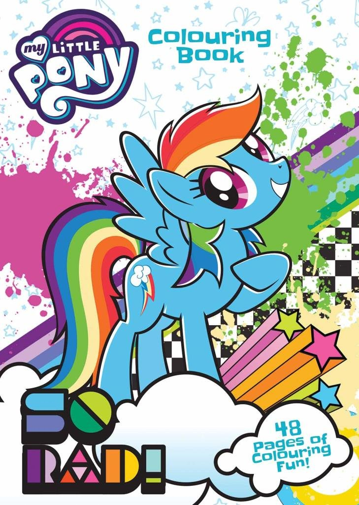 My Little Pony 160 page Jumbo Activity Colouring Book Kids fun ...