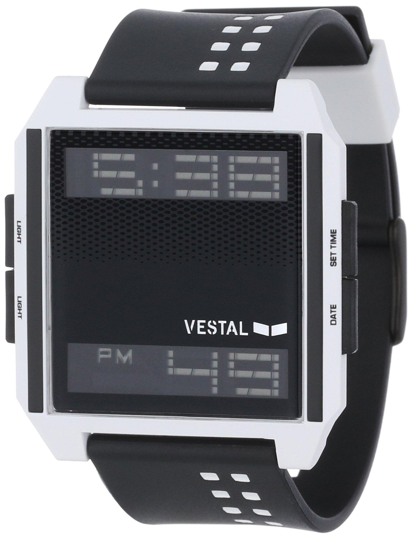Vestal Men's DIG009 Digichord Black White Polyurethane Digital Watch by Vestal